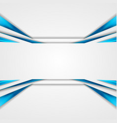 Abstract hi-tech futuristic blue and white glossy vector