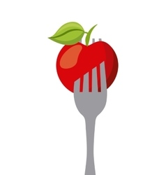 Apple in a fork vector