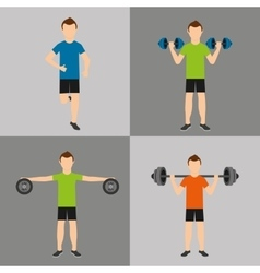 athlete avatar with sport icon vector image