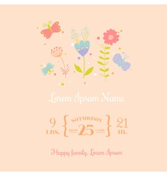 Baby Arrival Card - for design and scrapbook vector