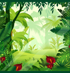 background jungle lawn in vector image