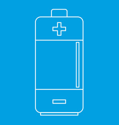 Battery icon outline style vector