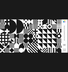 Bauhaus pattern background swiss geometric shape vector