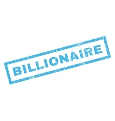 Billionaire Rubber Stamp vector image