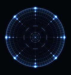 Blue target screen vector