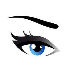 blue woman eye vector image
