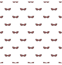 Brown sunglasses pattern vector