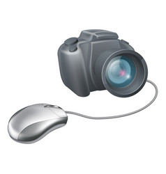 camera computer mouse concept vector image