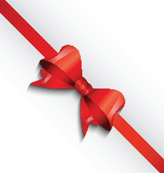 Christmas gift bow background vector image