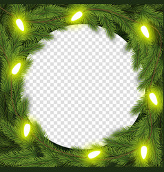 christmas wreath for greeting vector image