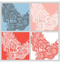 collection of modern ornamental template vector image
