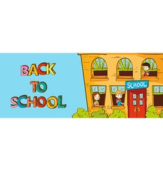 Colorful education back to school cartoon vector image