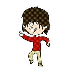 Comic cartoon happy boy vector