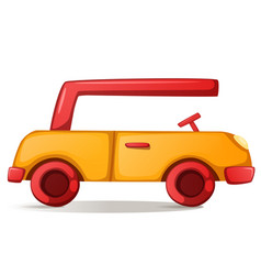 Cute funny car vector
