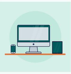 device icon computer monitor smartphonecomputer vector image