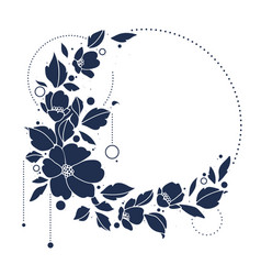 elegant floral with copy space vector image