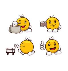 Emoji set - shopping vector