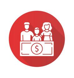 Family sponsorship immigration red flat design vector