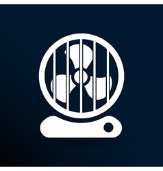 fan icon wind isolated cooling cold electric vector image