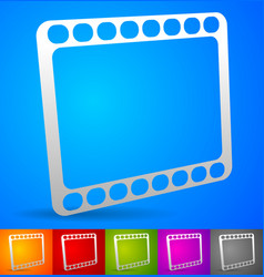Film strip symbol on colorful backgrounds vector