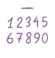 flatli flat line font latin alphabet numbers from vector image