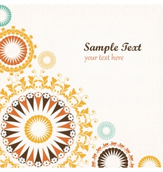 Floral pattern decorative background vector image
