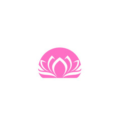 flower lotus spa beauty logo vector image