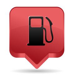 gas pump red icon vector image