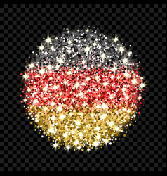 germany flag sparkling badge vector image