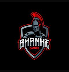 gladiator mascot esport logo vector image