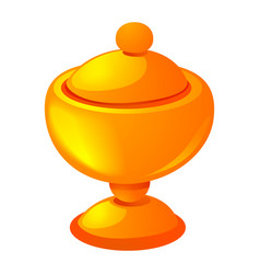 gold cup icon cartoon style vector image
