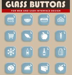 Grocery simply icons vector