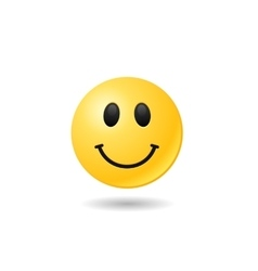 Happy emoticon emoji bright smile symbol eps vector image