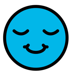 happy face emoticon character vector image