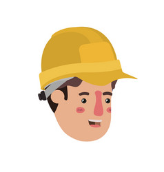 head man builder avatar character vector image