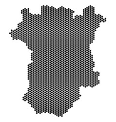 Honeycomb chechnya map vector