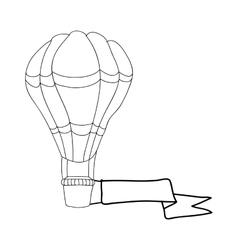Hot air balloon cartoon icon image vector