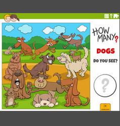 How many cartoon dogs educational task for vector