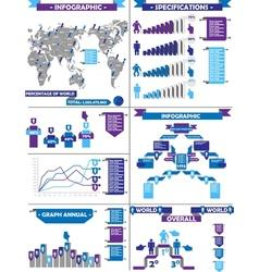 INFOGRAPHIC DEMOGRAPHIC RTERO LABBEL PURPLE vector image