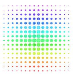 internet icon halftone spectral pattern vector image