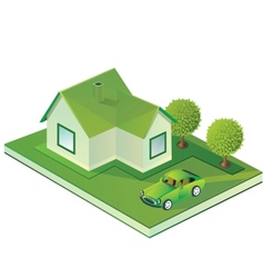 Isometric farmhouse vector