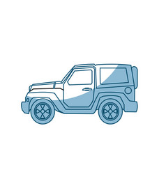 Jeep car vehicle adventure travel transport - vector