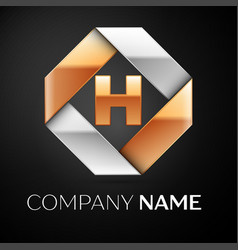 Letter h logo symbol in the colorful rhombus on vector