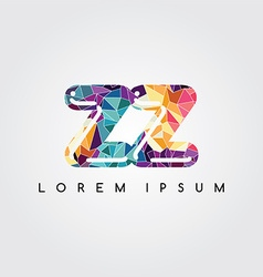 Letter initial logotype logo abstract colorful vector