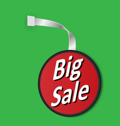 leyba big sale on a green background vector image