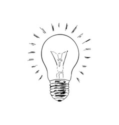 light bulb sketch the symbol of the idea vector image