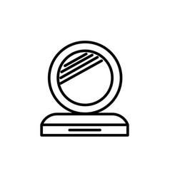 makeup mirror line icon sign vector image