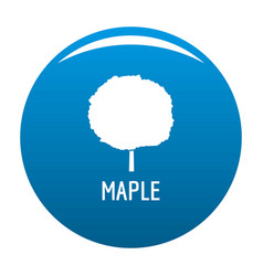 maple tree icon blue vector image