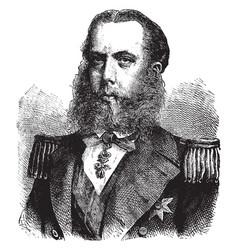 Maximilian i emperor mexico vintage vector