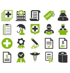 Medical bicolor icons vector